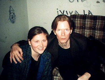 Jim Carroll with a Fan