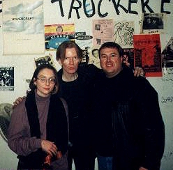 Jim Carroll with fans Tim and Maria
